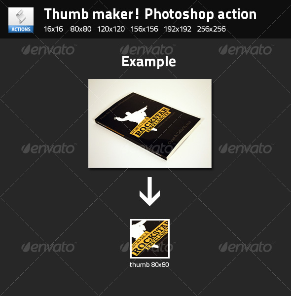 GraphicRiver Thumb maker photoshop action 88879