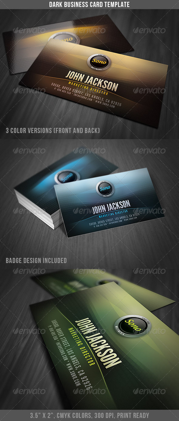Dark Creative Business Card - Creative Business Cards