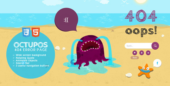 ThemeForest Octopus Error Template 2562783