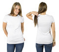 Female wearing blank white shirt - PhotoDune Item for Sale