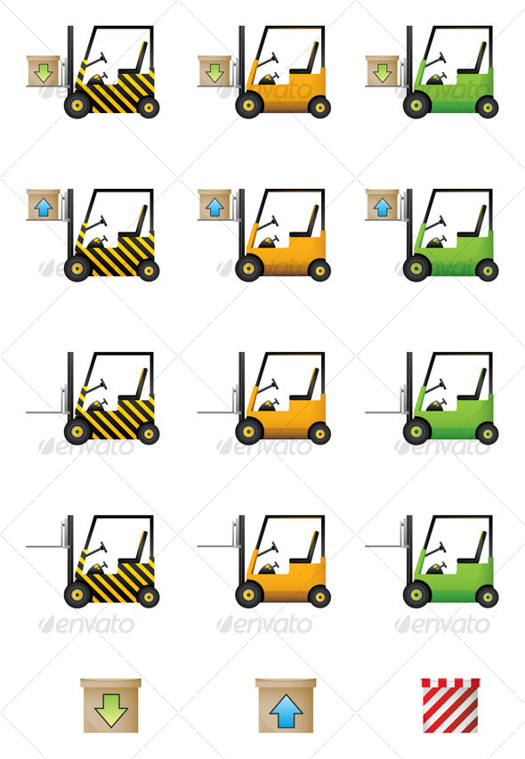 Download and Upload Cars Icon Set
