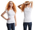 Pretty female wearing blank white shirt - PhotoDune Item for Sale