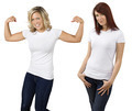 Young women with blank white shirts - PhotoDune Item for Sale