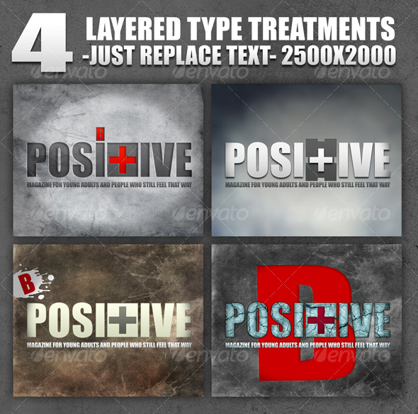 4 Layered Type Treatments. - Miscellaneous Web Elements