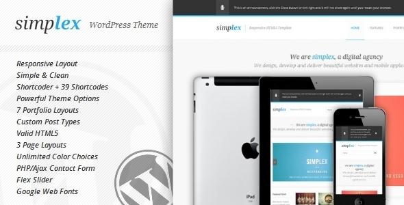Simplex wordpress theme download