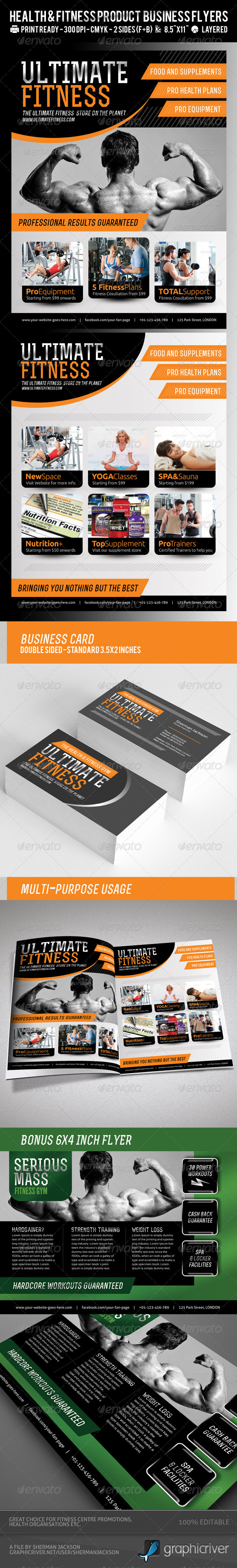 Ultimate Fitness or Product Flyer PSD Template - Corporate Flyers