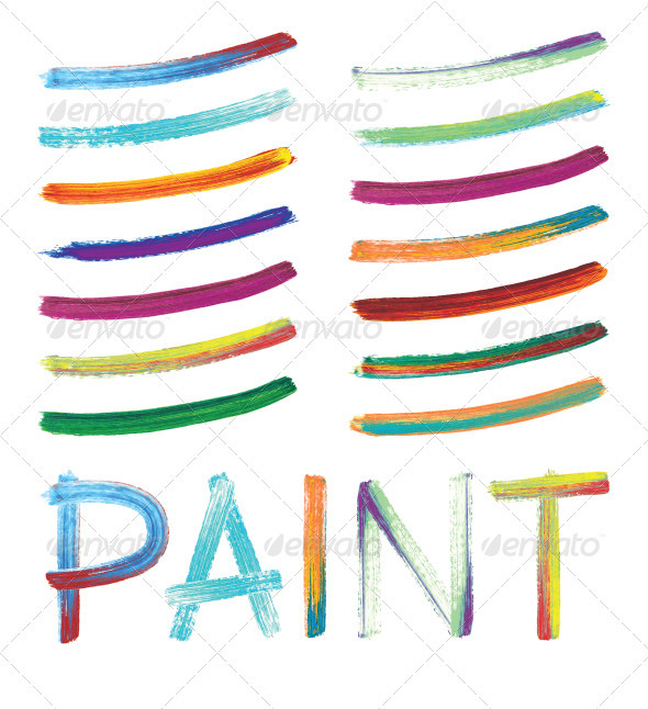 GraphicRiver Hand-Painted Vector Brushes 2564384