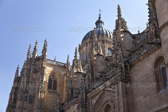 Salamanca New Cathedral (Catedral Nueva) - Stock Photo - Images