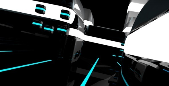 Tron City Looped Background