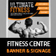 Fitness Centre or Product Banner PSD Template - GraphicRiver Item for Sale