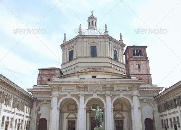 San Lorenzo church, Milan - Stock Photo - Images