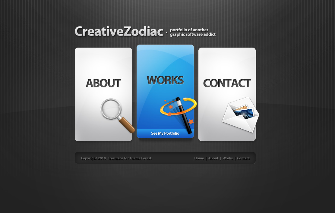 Creative Zodiac - Portfolio & Blog Wordpress Theme - Screenshot