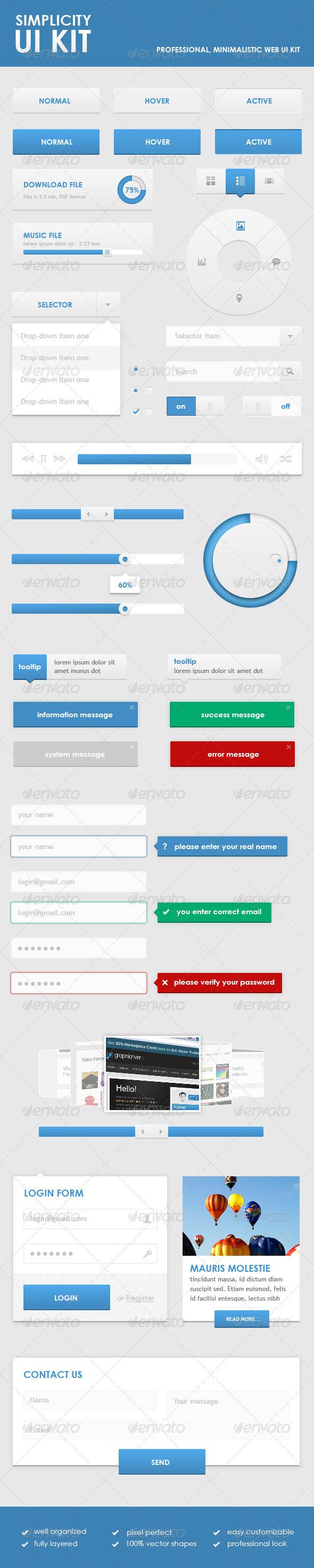 GraphicRiver Simplicity Ui Kit 2567136
