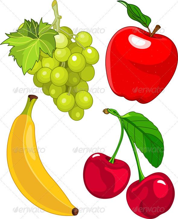 GraphicRiver Cartoon fruit set 2567452