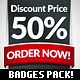 Modern Vector Promo Stickers / Website Badges - GraphicRiver Item for Sale