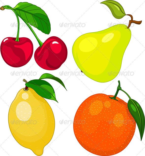 GraphicRiver Cartoon fruit set 2567469