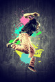 Dancer in retro style with splashes - PhotoDune Item for Sale
