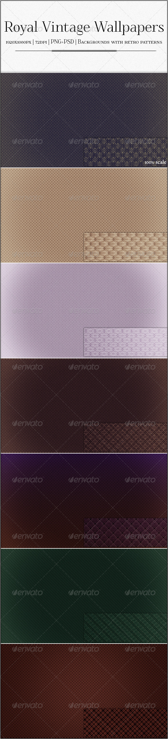 Vintage Royal Wallpapers - 7 Patterned Backgrounds - Patterns Backgrounds