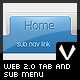Web 2.0 tab and sub menu in 9 colors - GraphicRiver Item for Sale