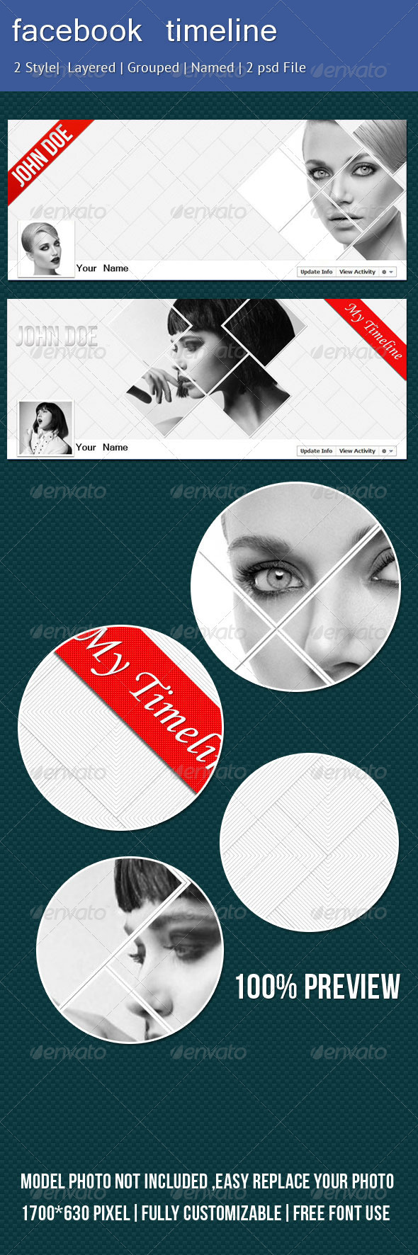 GraphicRiver Stylish Facebook Timeline 2569659