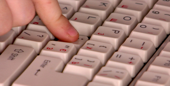 [VideoHive 2569994] Press Enter Key | Stock Footage