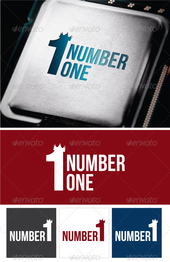 KING logo - Numbers Logo Templates
