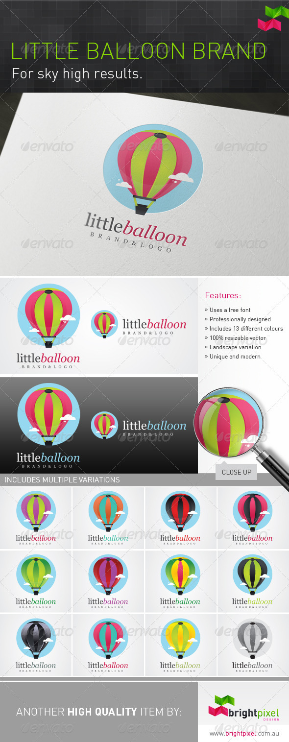 Little Balloon Brand - Objects Logo Templates