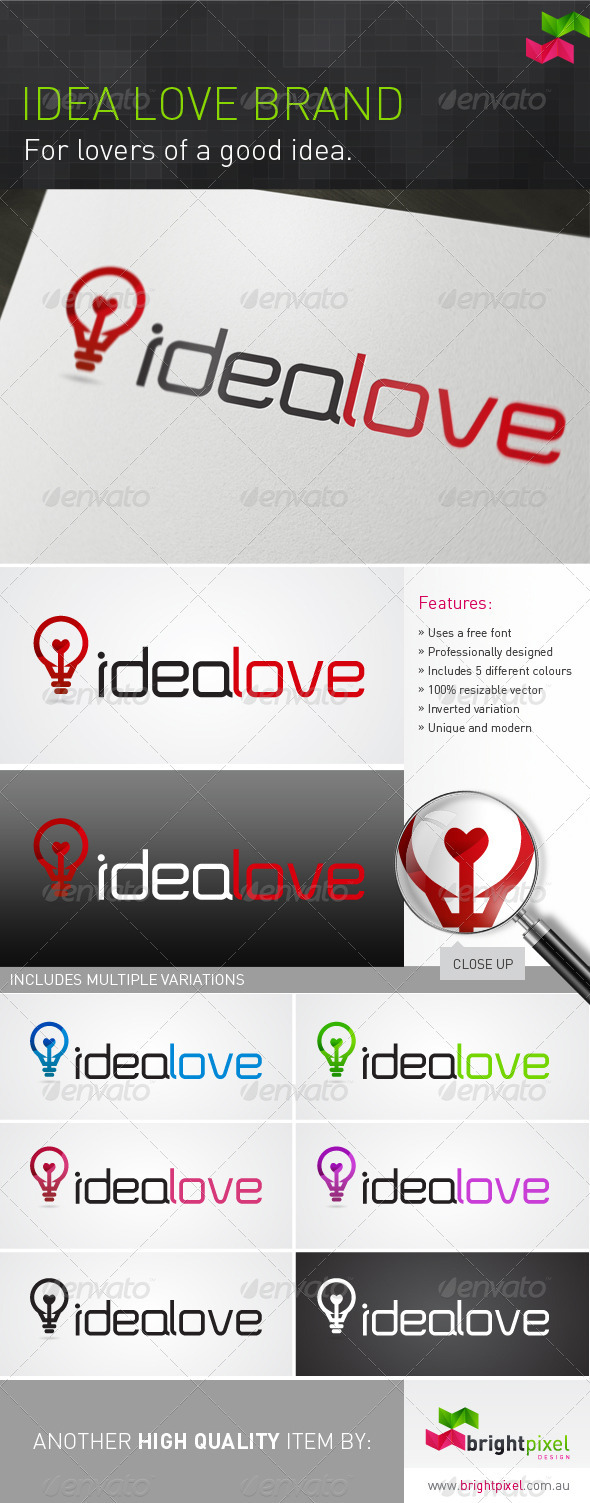 Idea Love Brand - Symbols Logo Templates
