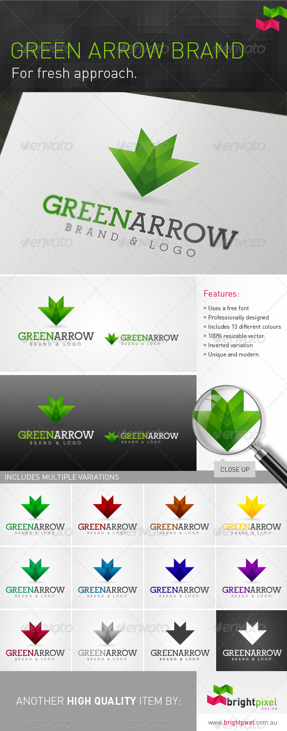 Green Arrow Brand - Nature Logo Templates