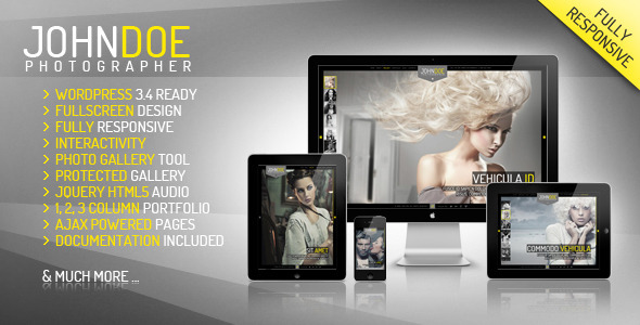J.Doe Responsive Photography Wordpress Theme | WordPress | Creative ...