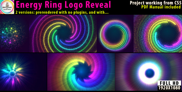After Effects Project - VideoHive Energy Ring Logo Revealer 2571650