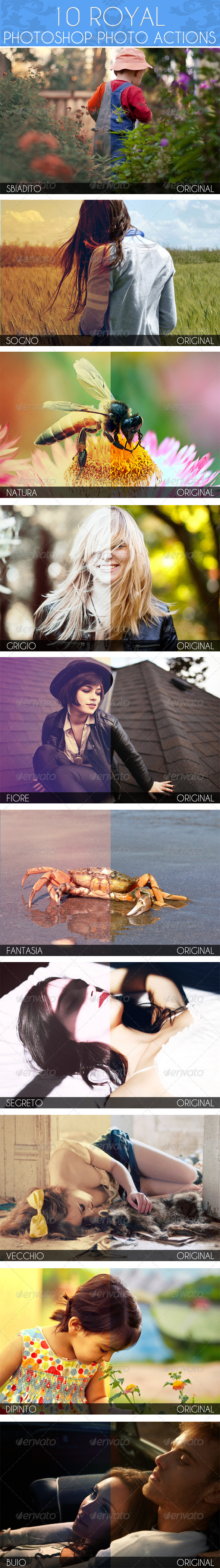 10 Royal PS Photo Actions - Photo Effects Actions
