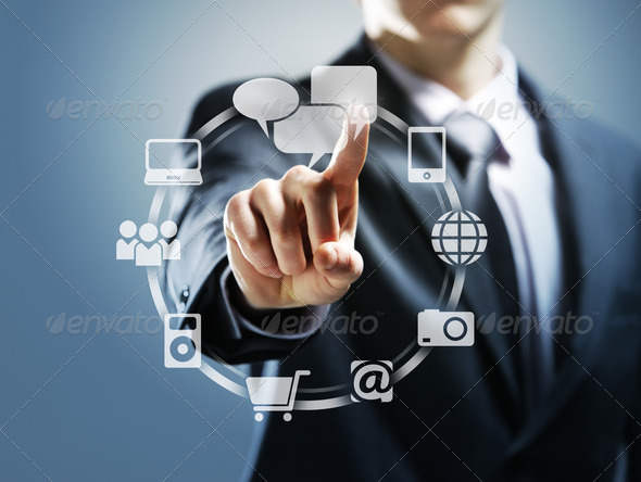 touchscreen interface - Stock Photo - Images