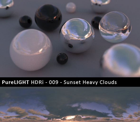 PureLIGHT HDRi 009 - Sunset Heavy Clouds - 3DOcean Item for Sale