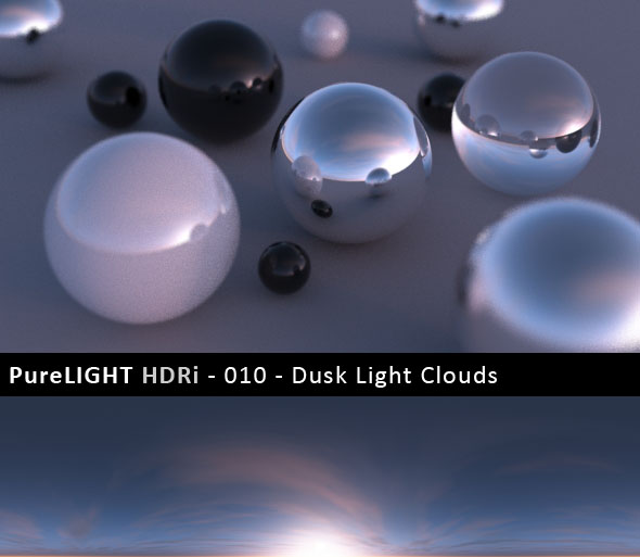 PureLIGHT HDRi 010 - Dusk Light Clouds - 3DOcean Item for Sale