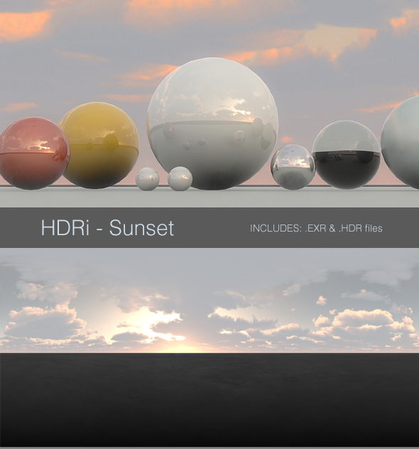 3DOcean HDRi Sunset 93558