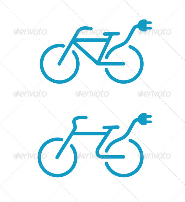 Electric bicycle icon