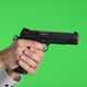 Shooting Sig 1911 45 Handgun Pistol Green Screen - VideoHive Item for Sale