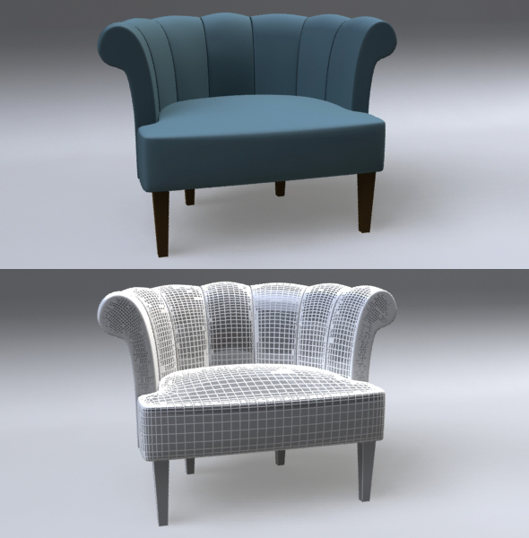 Senna Lounge Chair - 3DOcean Item for Sale