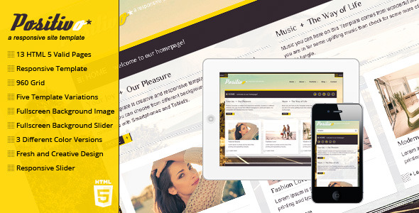 Positivo - Responsive and Fresh Site Template