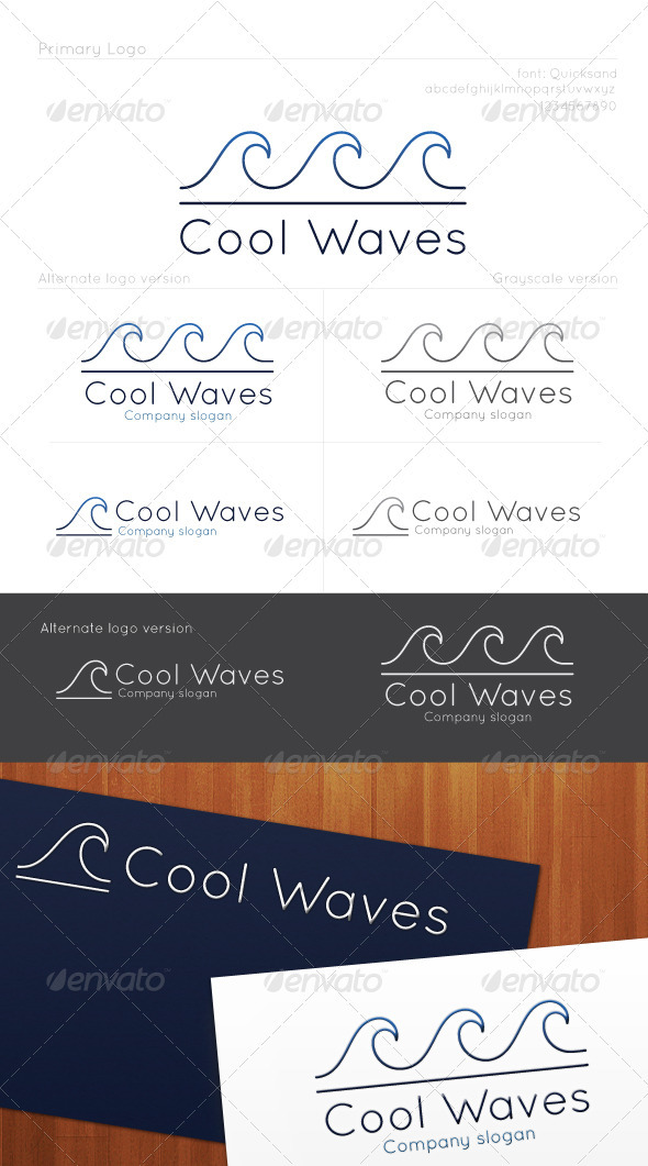 Cool Waves Logo - Nature Logo Templates