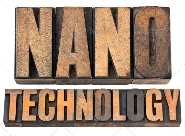 nanotechnology in wood type - Stock Photo - Images
