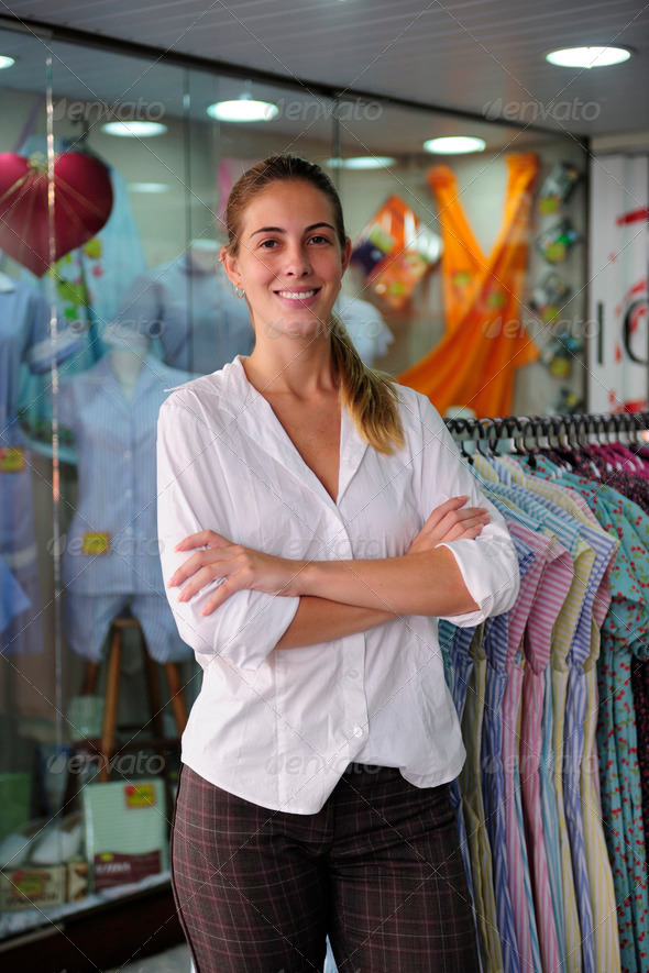 portait of a retail store owner - Stock Photo - Images