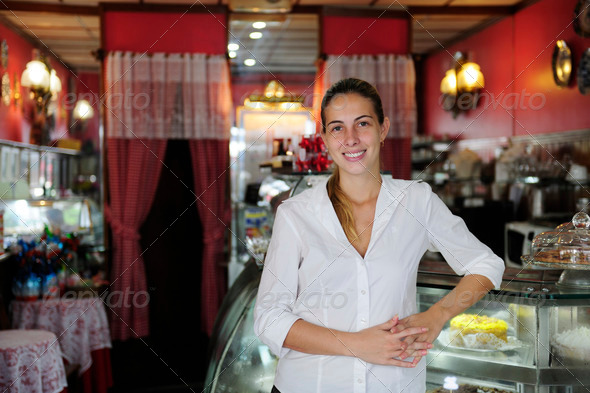 PhotoDune small business proud female owner of a cafe 2574320