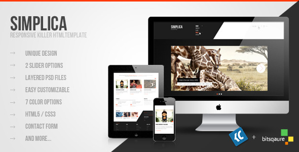 Simplica - Another Killer HTML Template
