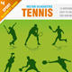 Download Vector Tennis Silhouettes