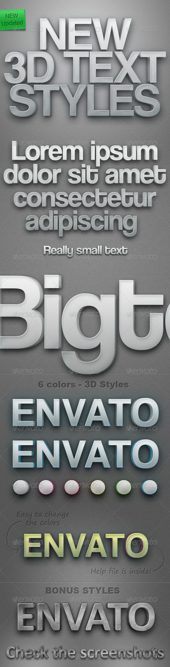 New 3D Text Styles - Text Effects Styles