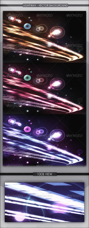 Lightway Vector Background