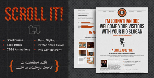 ThemeForest Scroll It Creative Single Page Html Template 2574607