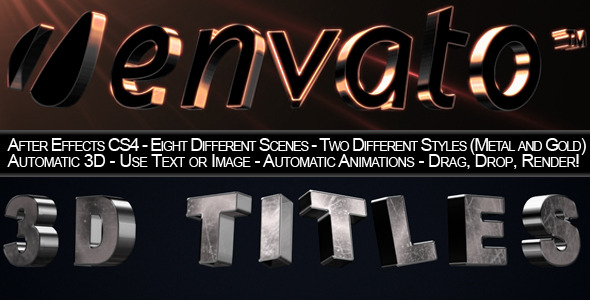 After Effects Project - VideoHive 3D Trailer Titles 2529357